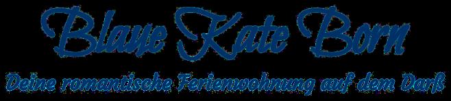 Schriftzug Blaue Kate